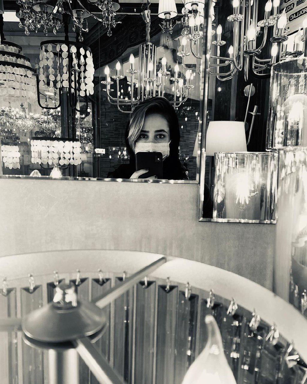 ماسک زدن به سبک «الناز حبیبی»   عکس