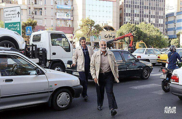 عکسی از رفت و آمد بدون تشریفات سردار سلیمانی
