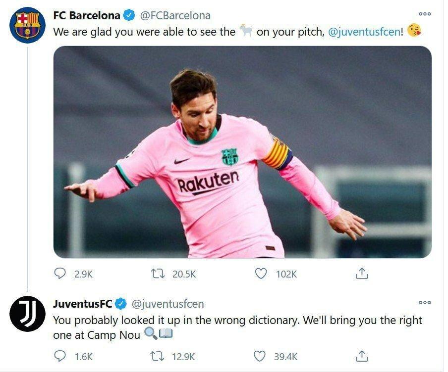 پاسخ کوبنده یوونتوس به توئیت بارسلونا+عکس