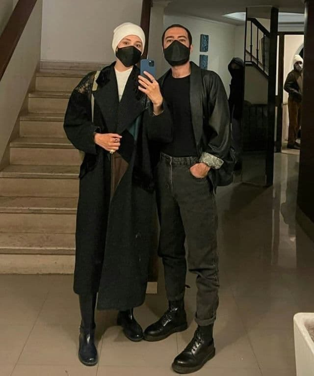 نوید محمدزاده در کنار فرشته حسینی+ عکس