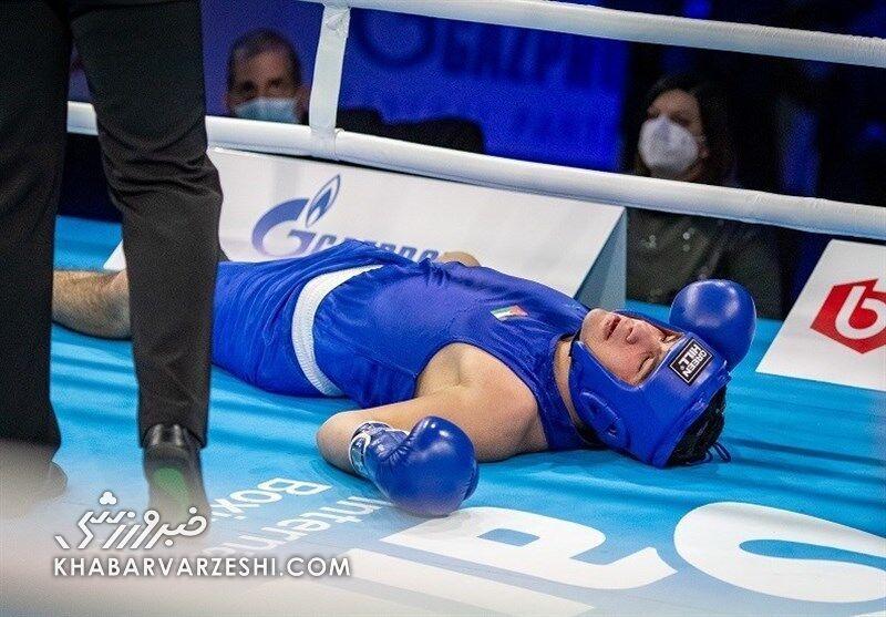 مرگ تلخ یک جوان ورزشکار روی رینگ بوکس+ عکس