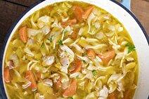 طرز تهیه سوپ ماکارونی و مرغ خوشمزه