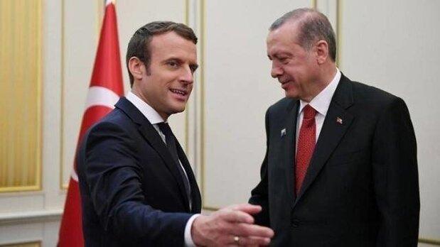 ماکرون: مذاکرات با اردوغان هدف مشترک در لیبی و سوریه را مشخص کرد