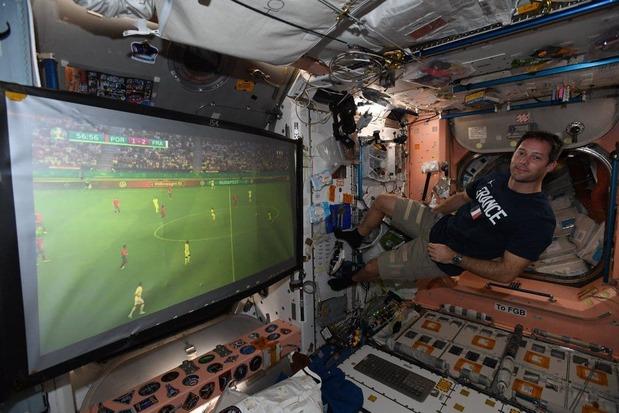 فوتبال حتی در ایستگاه بینالمللی فضایی+عکس