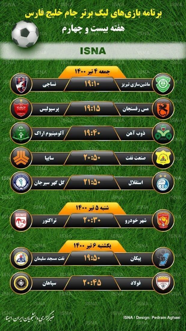 برنامه بازیهای لیگ برتر خلیج فارس+عکس