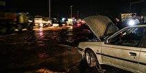 وقوع سیلاب در مازندران/ محور کندوان مسدود شد + فیلم