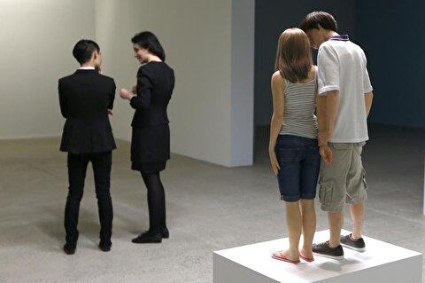 تصاویر نمایشگاه پیکرههای رئالیستی رون موک