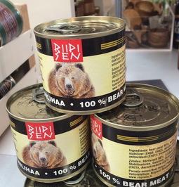 کنسرو گوشت خرس
