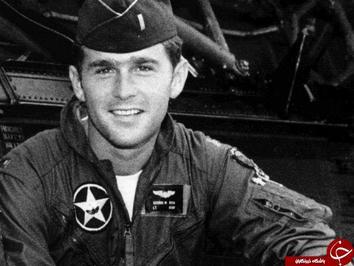 جرج بوش رئیس جمهور سابق آمریکا که در سال های ۱۹۶۸ تا ۱۹۷۳ در گارد ملی هوایی تگزاس حضور داشت.