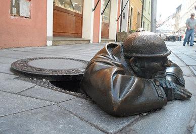 «مرد در محل کار»، براتیسلاوا، اسلواکی